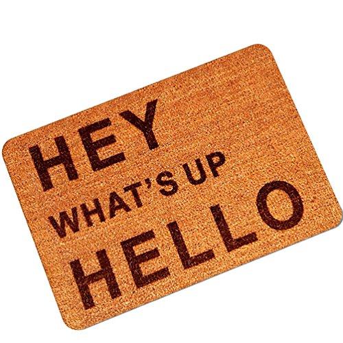 YOUJIA Gummi Türmatte Fußmatte mit Briefe Gedruckt Sauberlaufmatte Rutschfest Eingangsmatte Fußabtreter (Briefe #3, 45 * 75cm)