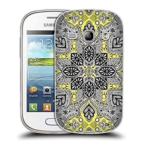 Official Micklyn Le Feuvre Sunshine Medallion Mandala Soft Gel Case for Samsung Galaxy Fame S6810