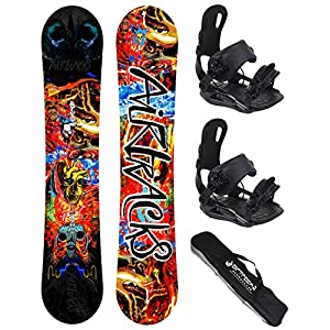 Airtracks Snowboard Set – Another World Carbon Snowboard Rocker + Snowboardbindung Star oder Master FGASTEC + Snowboard Bag / 153 160 164 cm
