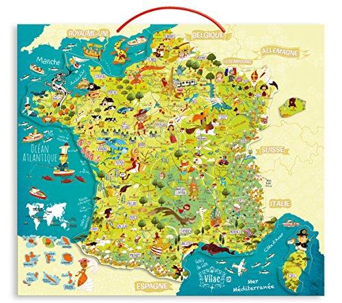 Vilac - 2725 - Carte des Merveilles De France Magnétique