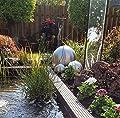 Kugel aus Edelstahl 25 cm matt Dekokugel Dekorationskugel Edelstahlkugel von garten-wohnambiente - Du und dein Garten