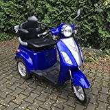3 Wheeled Electric Mobility Scooter Recreational New Model Powerful E-Scooter 900W 80AH Road Legal Blue