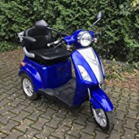 3 Wheeled Electric Mobility Scooter Recreational New Model Powerful E-Scooter 800W 80AH Road Legal Blue