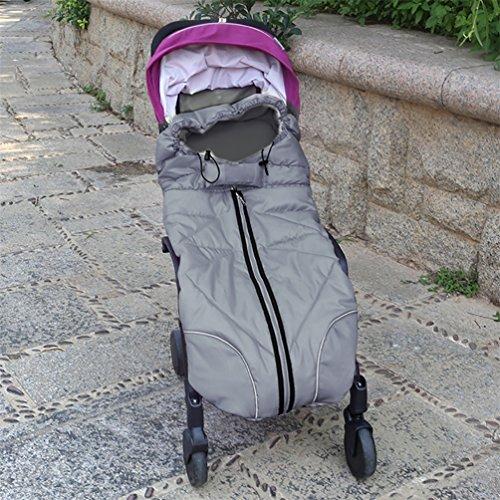 NuoYo Baby Winter-Einschlagdecke Anti-Kick Verdickt Warm Halten für Kinderwagen Buggy Autositz Wasserdicht Lange Bi-Fold Geldbörse Gray