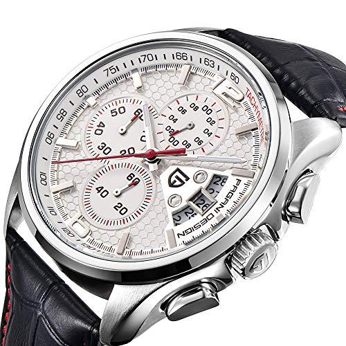 Herren Luxus-Marke, Multifunktions-Quarzuhr für Herren, mit Chronograph, Sportuhr