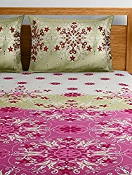 Raymond Home Red Double Bedsheet with 2 Pillow Covers