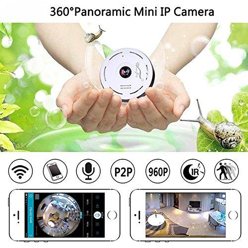 Mini IP Kamera 960P Panorama WiFi HD Zuhause Geschäft Sicherheit IP Videoaufnahme Nachtsicht - 5