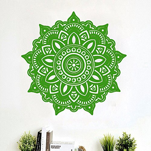 Yallylunn Mandala Flower Indian Bedroom Wall Decal Art Stickers Mural Home Vinyl Family Elegante Und Kreative Wandtattoos Abziehbilder Wandabziehbilder Wandbilder Home Decoration