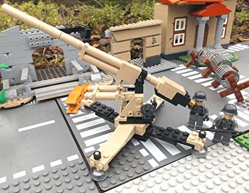 Modbrix 2367- ☠ Deutsche Achtacht Flak Stellung inkl. Custom Elite Wehrmacht Soldaten aus Lego© Teilen ☠ thumbnail