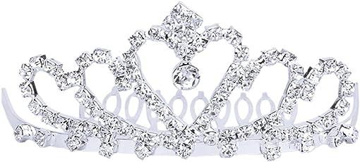 Generic Bridal Silver Crystal Tiara Rhinestone Crown with Comb Pin for Women