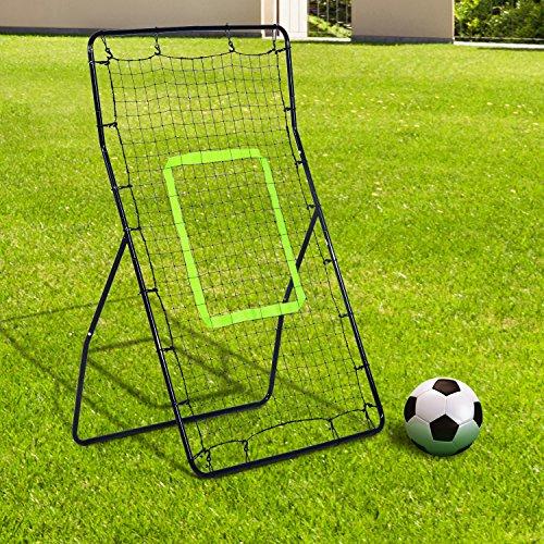 HOMCOM Rebounder Net Playback Soccer Football Game Spot Target Ball Rebounders Training Equipment Play Teaching
