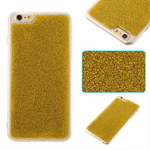 Hülle für iphone 6 Plus/6s Plus ,TPU Silikon Backcover Case Handy Schutzhülle für iphone 6 Plus/6s Plus, Cozy Hut® iphone 6 Plus/6s Plus Hülle Handyhülle, Glitzer Slim Soft-Case Back-Cover Schutzhülle, Handy-Tasche im Glitter Sparkle Design, Dünnes Bling Strass Etui Skin für iphone 6 Plus/6s Plus - Gold (Sparkle Mikrofon)