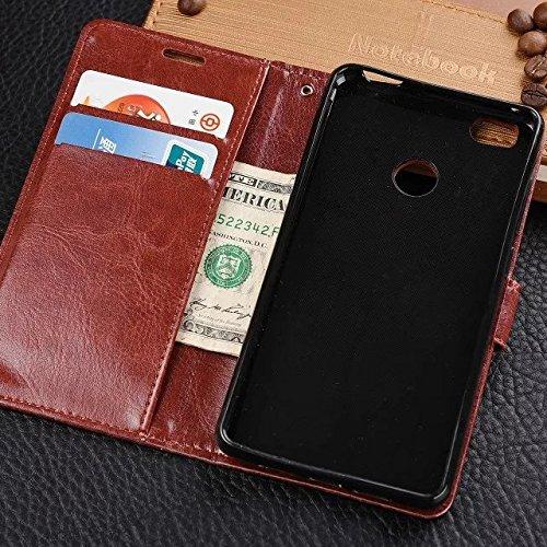Wkae Case Cover Xiaomi 4S Fall feste Folio magnetische Design Flip Brieftasche Stil Fall Farbmuster PU-Leder-Abdeckung Standup-Abdeckungsfall für Xiaomi 4S ( Color : Brown , Size : Xiaomi 4S ) White