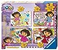 Ravensburger Dora la exploradora - Set de 4 puzzles (12, 16, 20 y 24 piezas) de Dora