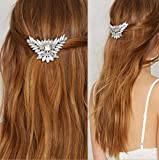 Aukmla Hair Comb Slides Simple All-match Hairpin Wedding Bling Bling for Women and Girls