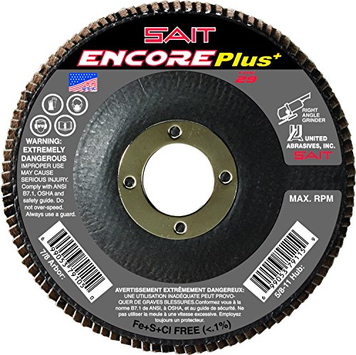 Concrete Depressed Center Grinding Wheels 25-Pack SAIT 20061 Type 27 4-1//2-Inch x 1//4-Inch x 7//8-Inch 13300 Max RPM C24N United Abrasives