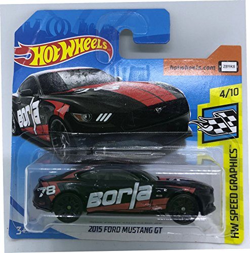 Hot Wheels 2018 2015 Ford Mustang GT Black/Red 4/10 HW Speed Graphics 80/365 (Short Card)