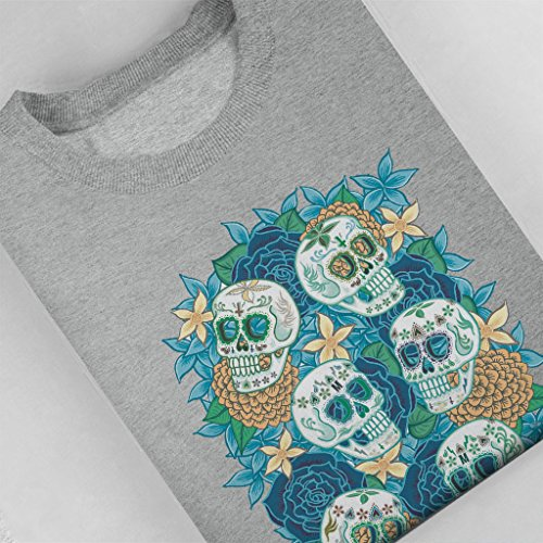 Mambo Muerte Skull Death Women's Sweatshirt Heather Grey