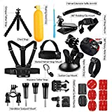 #9: Action Pro 30 in one sport camera accessories Set for Go pro hero 6 5 4 for eken for Yi 4K action camera