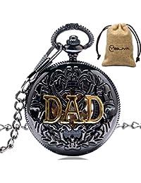 Vintage Kette Retro Die Größte Taschenuhr Halskette Anhänger Für Opa Dad Geschenke Reloj Bolsillo Geschenk # D Uhren