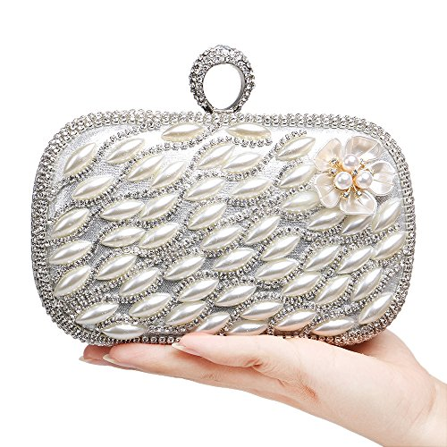 Flada, Poschette giorno donna oro Gold medium Silver