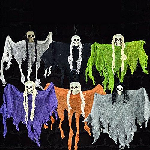 ops Anhänger Skull Skeleton Ghost Halloween Party Decoration Yard Outdoor Garten Bar Hotels Ornament Spielzeug Geschenk zufällige Farbe (Scary Clown Halloween-fotos)