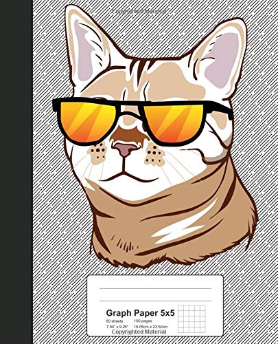 Graph Paper 5x5: Bengal Cat Book (Cats, Band 9187)