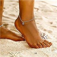 Yean Starfish Pendant Cavigliera Stella Bracciale alla caviglia Moda Catena a piedi Gioielli in argento per donne e…