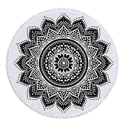 SUYUN Runde Strandtuch Yoga-Matte mit Quaste Bedrucktes Badetuch -06 150 * 150cm