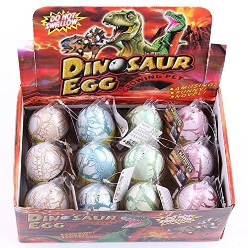 HXSS Weiß Riss Farbe Dinosaurier Dragon Hatch-wachsen Eier Große Big Size Pack von 12 (Kostüm Men's Ei)