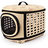 24x7 eMall Portable Breathable EVA Car Soft Fabric Pet Carrier Folding Outdoor Storage Puppy Travel Transport Bag Pack for Do