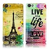 Wiko Fever 4G 2x SET PARIS LA TOUR + LIVE THE LIFE Silikon