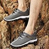 CHNHIRA Mens Trainers Breathable Sneakers Soft Climbing Hiking Shoes Sports