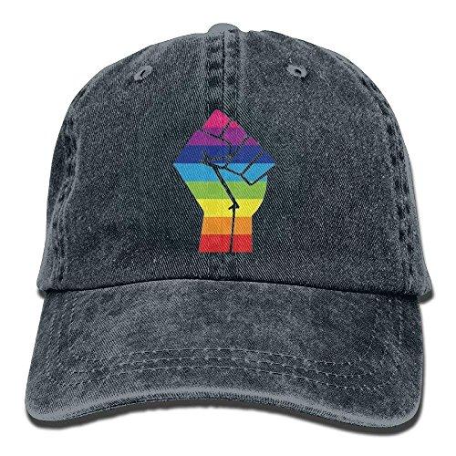 Preisvergleich Produktbild rongxincailiaoke Pride Rainbow Flag Fist Unisex Cowboy Hat Customized for Man and Woman