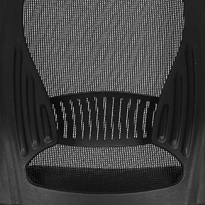 SONGMICS Silla giratoria de Oficina Silla de Escritorio de Malla con reposacabezas Mecanismo sincronizado Altura Ajustable Negro OBN86BK