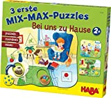 Haba 301649 - 3 Mix-Max Puzzles - Zu Hause