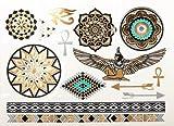 Metall Tattoos Ägyptische Mystik