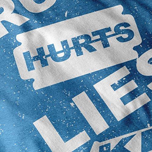 Wahrheit Hurts Töten Slogan Damen S-2XL T-shirt | Wellcoda Royal Blue