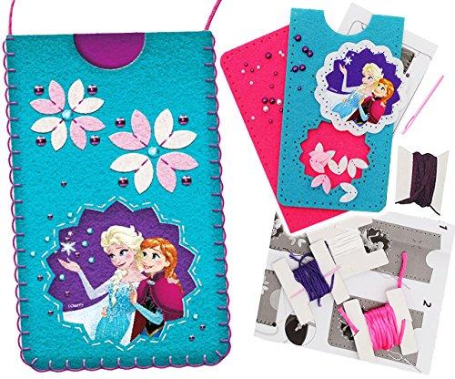 alles-meine.de GmbH Bastelset - Filz -  Disney die Eiskönigin - Frozen  - Handytasche / Handyhülle - Smartphone Hülle - ALLE Größen ! zum Sticken, einfaches Nähen per Hand - Ha..