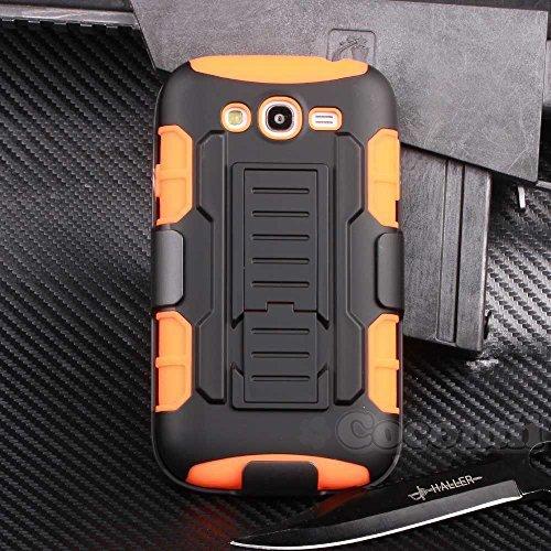 Cocomii Robot Armor Galaxy Grand Duos/Lite/Neo Funda [Robusto] Funda Clip para Cinturón Soporte Antichoque Caja [Militar Defensor] Case Carcasa for Samsung Galaxy Grand Duos (R.Orange)