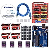KeeYees Professional 3D Drucker CNC Kit mit Tutorial für Arduino, CNC Shield V3 mit Jumper Kappen + UNO R3 Hauptplatine + RAM