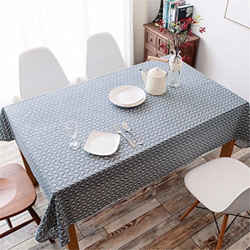 Hxc Home Gris flèche géométrique Nappe en coton et lin scandinave minimaliste moderne Table de salle à manger rectangulaire Desk Table carrée Chiffon respectueux de l'environnement couvrant, Coton/lin, gris, 90*145cm