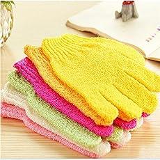 Neueste Scrub Bad gloves-nylon lindern Peeling Bad Handschuhe Dusche Gesicht Haut Körper waschen Massage Reiben Mud