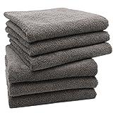 Zollner 6er Set Handtücher aus Baumwolle, ca. 50x100 cm, Taupe (weitere verfügbar)