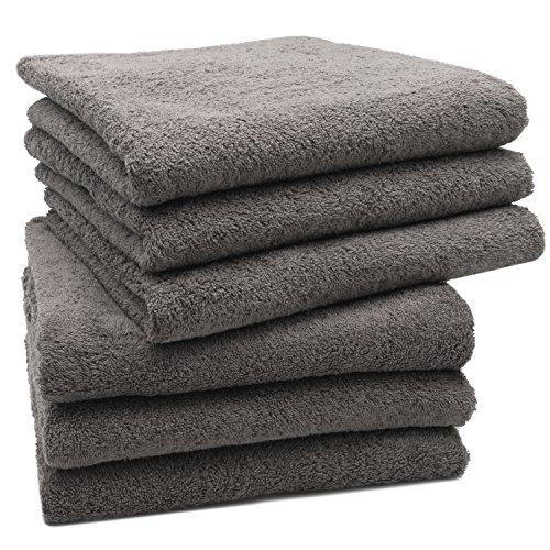 Zollner set di 6 pezzi d'asciugamani 50x100 cm taupe, disponibili in tanti altri colori, direttamente dallo specialista in gastronomia, serie star-elba