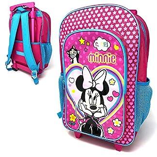 Kinder-Minnie-Mouse-Figur-Gepck-Luxus-Rollen-Trolley-Rucksack-Koffer-Handgepck-Schultasche