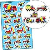 Sticker Fahrzeuge - Set - Bau - Fahrzeuge German Trendseller / Baumeister Fahrzeuge / Sticker Set für Kinder