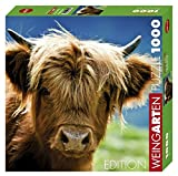 Heye 29745 - Quadratpuzzle, Highland Cow Square 1000 Teile, Edition Weingarten, Mehrfarbig