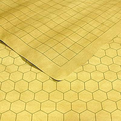 """Chessex Tapis de jeu réversible (carrés/hexagones) pour jeux de rôle et jeux avec figurines 66 x 59,7 cm (26""""x 23 1/2"""") Squares/Hexes"""