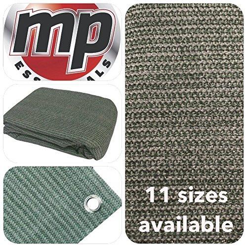 MP Essentials - Estera transpirable y resistente al agua para exterior, para suelo y tiendas de campaña, color GREEN & GREY, tamaño 2.5 x 5m